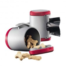 Flexi VARIO Multi Box for dog waste bags or treats Red / Gray