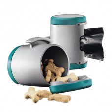 Flexi VARIO Multi Box for dog waste bags or treats Turquoise / Gray