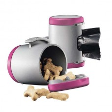Flexi VARIO Multi Box for dog waste bags or treats Pink / Gray