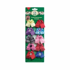 Karlie luxury hair clips with fabric trim - set of 10