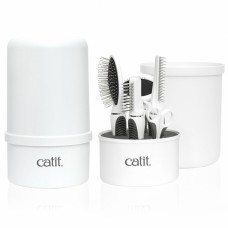 Catit brush set for medium and long-haired cats