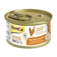 GimCat Superfood Duo ShinyCat chicken fillet with carrot 70 g