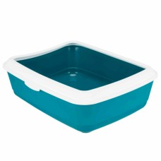 Trixie litter tray Classic with rim - petrol / white