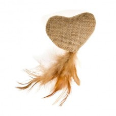 Karlie Nature Cat Toy Heart with feathers