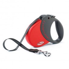 Flexi Comfort Compact 1 (S) - 5 m / 15 kg Red