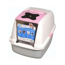 Catit cat litter box with Hinged Cover - Pink