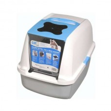 Catit cat litter box with foldable cover - Blue
