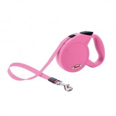 Flexi tape leash Classic Compact Mini 3 m / up to 12 kg - Pink