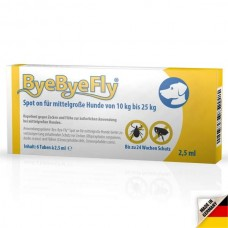 ByeByeFly® Spot-on for medium dogs 10kg up to 25 kg