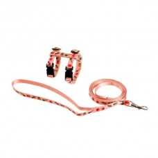 Karlie Rabbit Harness and Leash - pink with motive