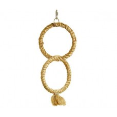 Karlie double-climbing ring made of natural sisal