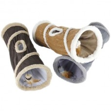 All for Paws Cat Tunnel with sheepskin
