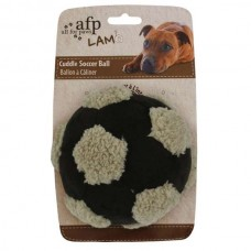 All for Paws soccer ball with lambskin medium