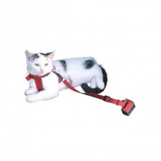Car seat for cats red, size adjustable