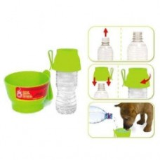 Dogit water cup with bottle cap Green