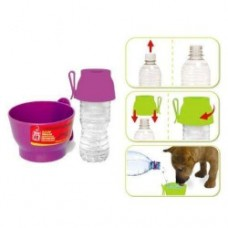 Dogit water cup with bottle cap Purple